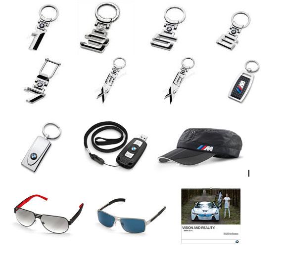 Аксесоари за BMW - ключодържателие, очила, шапки